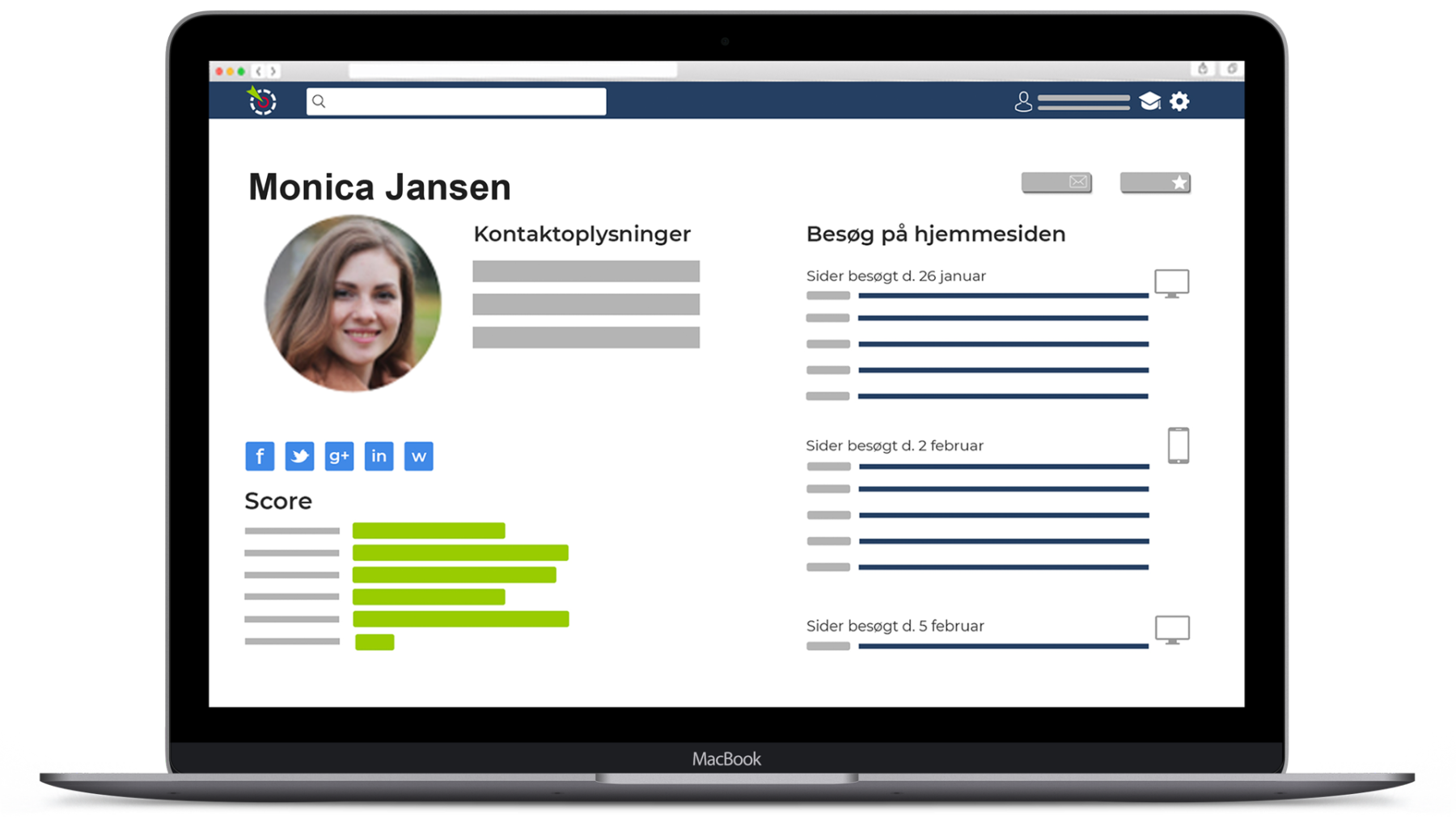 LeadScoreApp CRM, lead scoring og marketing automation